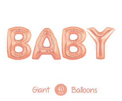 new rose gold baby balloons giant 40 inch rose gold