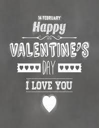 free printable typography poster happy valentine u0027s day
