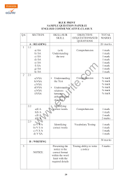 class 10 cbse english communicative sample paper model 2 2009