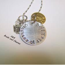 Custom Engraved Necklace Custom Stamped Jewerly Goldsboro S U0026 K Hand Stamped Designs