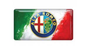 alfa romeo emblem romeo italy flag