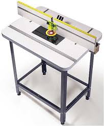 mlcs woodworking router table top and fence with phenolic plate