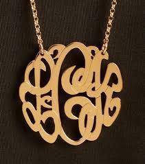 2 inch monogram necklace 1 1 2 inch gold vermeil monogram necklace purple mermaid