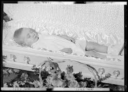 baby casket ruby ethington corpse of baby open casket surrounded by flowers