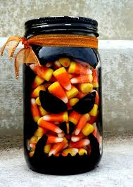 Halloween Candy Jar Ideas by Sassy Sanctuary Painted Glass Candy Jar