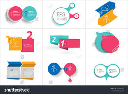 two elements banner 2 steps design stock vector 520168459