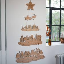 nordic wooden christmas tree decoration
