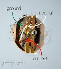 Light Fixture Wire How To Replace A Light Fixture Grace Gumption