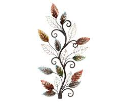 Hanging Wall Decor by Autumn Foliage Branch Metal Wall Hanging