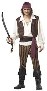 brown costume california costumes men s rogue pirate costume clothing