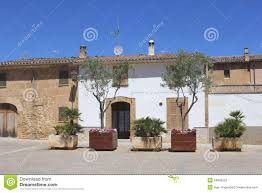 spanish patio garden stock images image 19537274