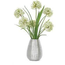 Flower Arrangements In Vases Lux Art Silks Allium Silver Vase Silk Flower Arrangement L
