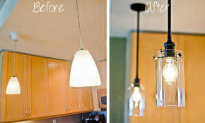 Small Pendant Lights For Kitchen Hirondelle Rustique Upgrading Our Kitchen Pendant Lights