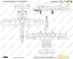 Fairchild The Blueprints Com Vector Drawing Fairchild Republic A 10