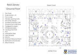 reid library floor plans university library the university of