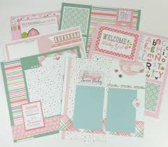 baby girl scrapbook album artsy albums mini album and page layout kits and custom designed