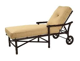 Metal Chaise Outdoor Chaise Lounge With Wheels Home Design Ideas
