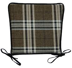 kitchen seat pad 100 polyester tartan check garden dining square