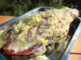 cuisiner cuissot de sanglier gigôt d agneau pascal à la pommade d ail classique reddif la cachina