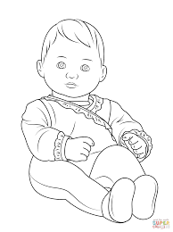 baby coloring pages american bitty ba coloring page free