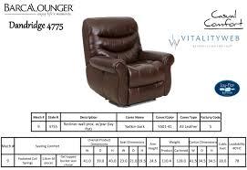 Lounge Chair Dimensions Standard Barcalounger Dandridge Ii Lay Flat Wall Away Hugger Recliner Chair