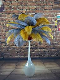 Ostrich Feather Centerpieces Wholesale by Online Buy Wholesale Gold Ostrich Feather From China Gold Ostrich