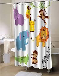 Animal Shower Curtains Zoo Animals Clipart Shower Curtain Myshowercurtains