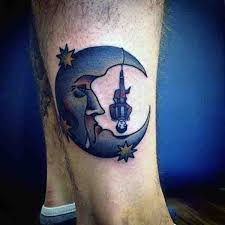 90 moon tattoos for ship of light on the sea of