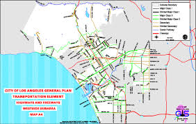West Los Angeles Map by City Of Los Angeles General Plan Transportation Element Highways