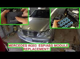 mercedes light replacement mercedes w203 esp abs module replacement abs light esp light on