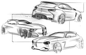 car sketch rear 3 4 view by andré car design education tips