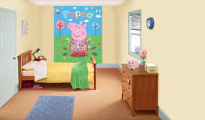 peppa pig bedroom in a box by walltastic wallpaper direct