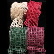 wired jute mesh ribbon solids ribbon