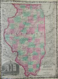 Maps Of Illinois by Spofford Map Of Illinois 1900