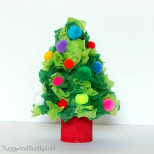 tree craft using tissue paper buggy and buddy