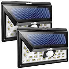 wireless security lights outdoor litom solar lights outdoor wireless 24 led motion sensor solar