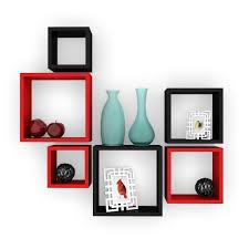 wall shelf design mamta decoration floating wall shelf rack set of 6 nesting square
