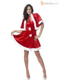 ladies fever miss santa costume womens christmas fancy