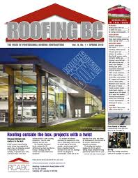 Pyramid Roofing Houston by Roofing Bc Spring 2012 By Rcabc Issuu
