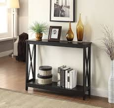Side Table With Shelves Amazon Com Convenience Concepts Oxford Console Table Black Home