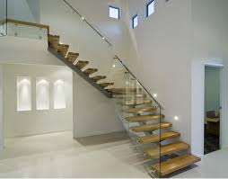 Glass Banisters Cost Low Cost Wooden Stairs And All Glass Staircases With Stainless