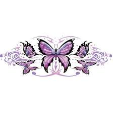 purple butterflys this maybe wrapped around my arm 3d