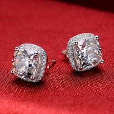 aliexpress buy 2ct brilliant simulate diamond men threeman excellent design 2ct cushion solid white gold