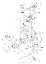 troy bilt 13aj609g766 bronco 2005 parts diagram for deck assembly