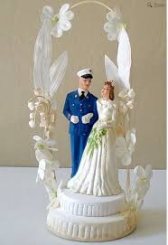 a military story 1950 chalk wedding cake topper bride u0026 military