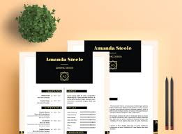 Adobe Indesign Resume Templates Black And Gold Resume Template Cv Template Letterhead By