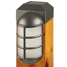 solar powered outdoor l post lights 1 light fence post cap fence post caps fences and cap