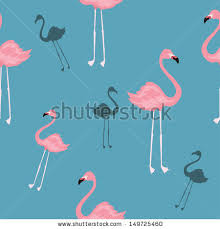 wallpaper with pink flamingos seamless texture pink flamingos cartoon wallpaper stock photo photo