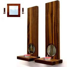 Wood Wall Sconce Wooden Wall Candle Holders Uk Candles Decoration