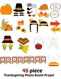 thanksgiving photo booth props printable thanksgiving photo booth props